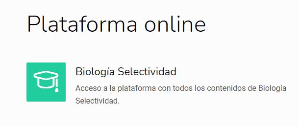 plataforma online bilogía selectividad